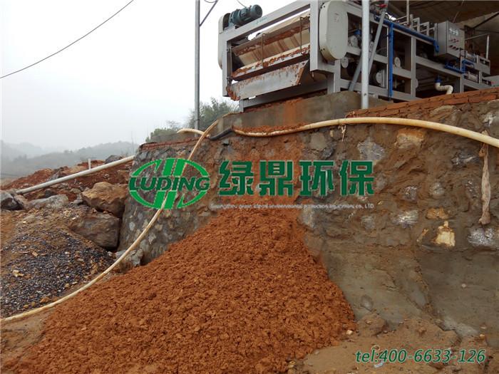 选矿厂污泥脱水机处理,选矿洗矿污泥脱水机处理案例