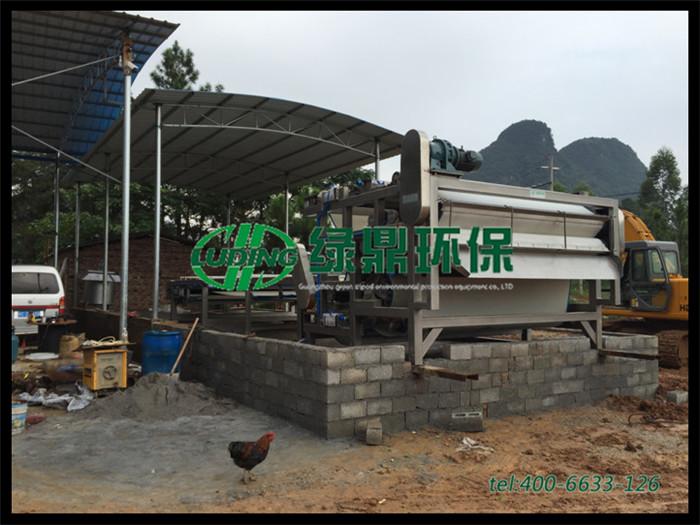 矿山尾泥污泥处理设备#3米带式压滤机处理尾泥案例