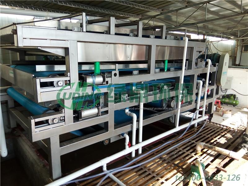 福建建筑污泥带式压滤机处理案例