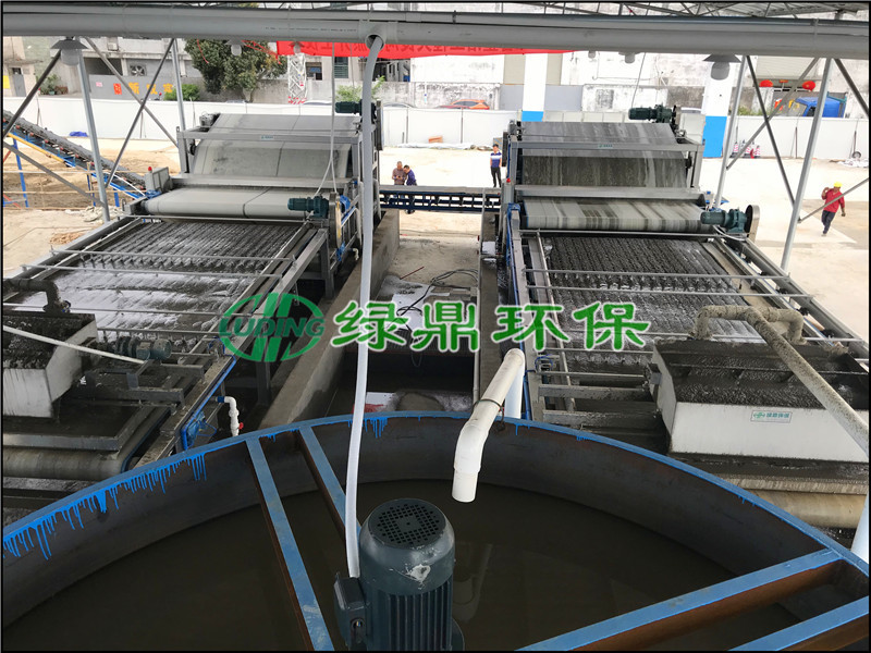 河道清淤工程 佛山大良带式压滤机解决河道淤泥案例